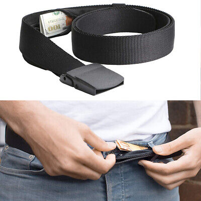 Travel Security Belt Hidden Money Pouch Money Wallet Pocket Waist Belt Safe US (Concealed Wallet)