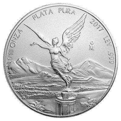 2017 Mo Mexico 1 10 Troy Oz  999 Fine Silver Libertad Coin Sku47075