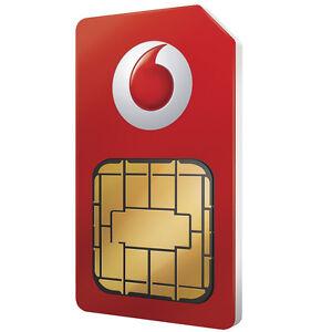 VODAFONE PAY AS YOU GO SIM CARD OFFICIAL SEALED 4G NANO MICRO SIM 3 in 1 DATA