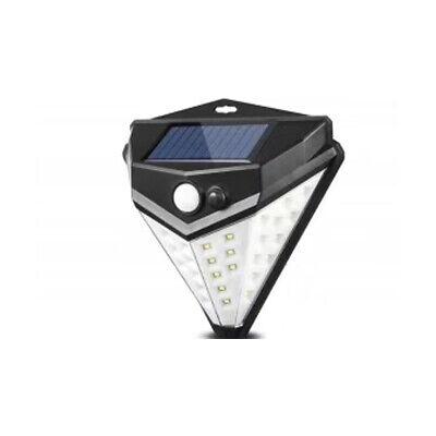Foco Con 38 SMD LED Panel Solar Recargable Sensor de Movimiento Exterior