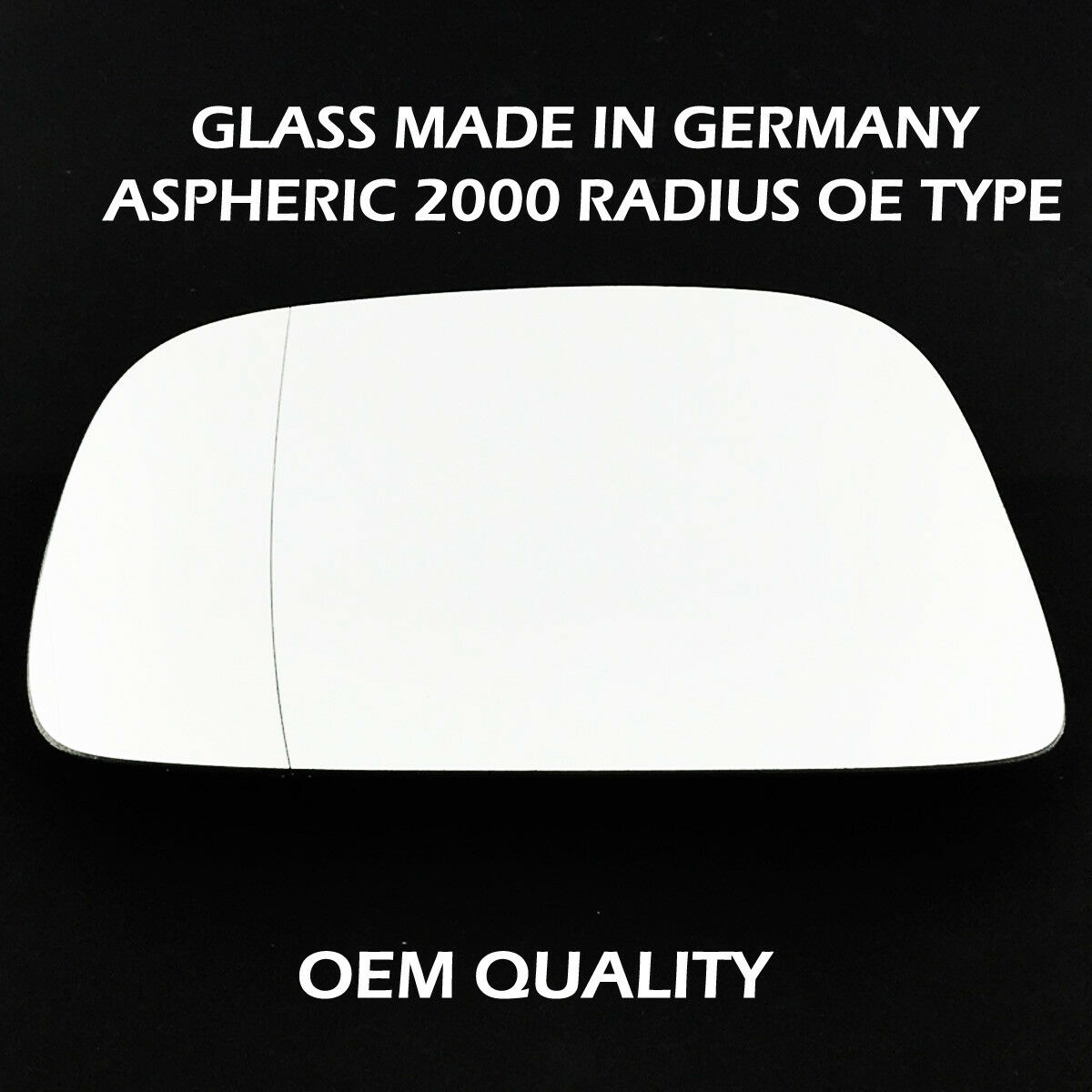 VO-V70 2010 to 2013 Heated Silver Aspheric Wing//Door Mirror Glass Including Base Plate RH Driver Side