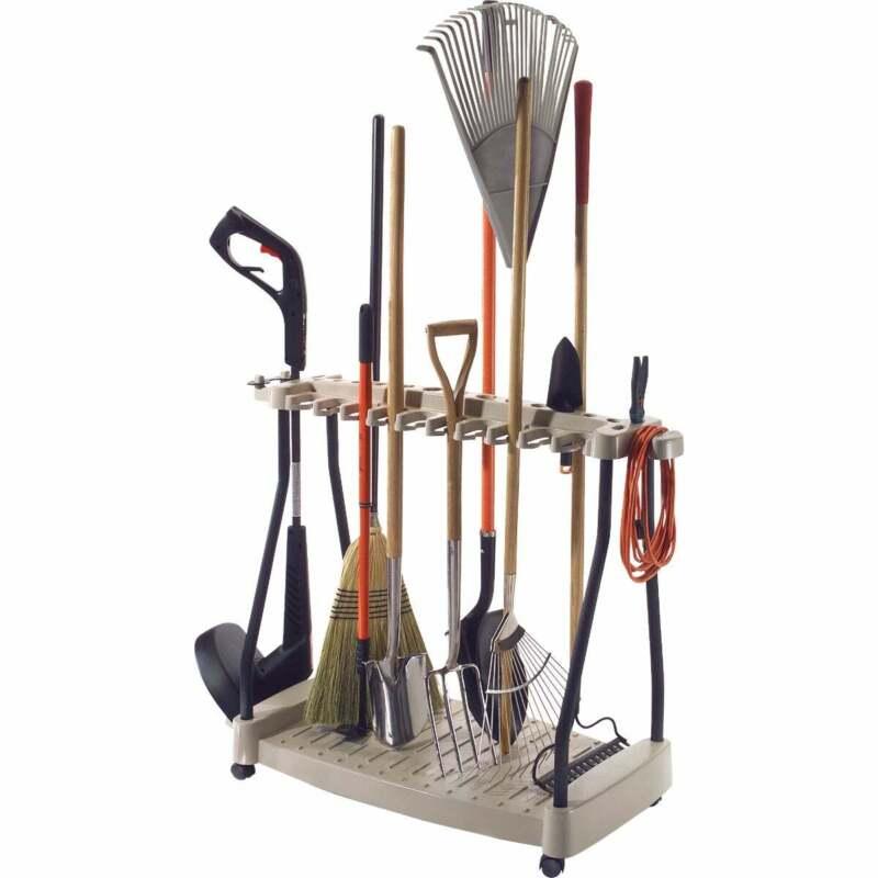 Suncast 42 In. Long Handle Tool Rack with Wheels RTC1000  - 1 Each