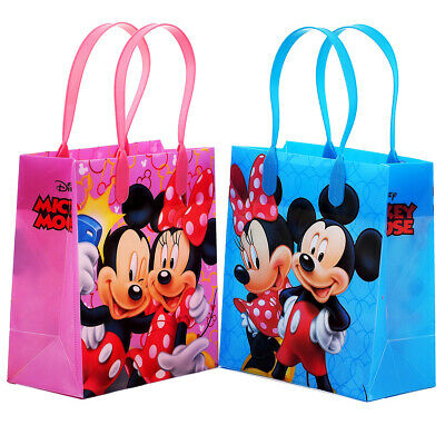 12PCS Disney Mickey and Minnie Mouse Goodie Party Favor Gift Birthday Loot Bags - Minnie And Mickey Party Supplies