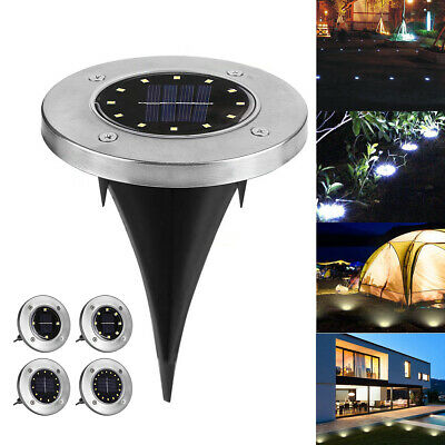 16 LED Solar Power Buried Disk Light Ground Garden Lawn Outdoor Waterproof Lamp