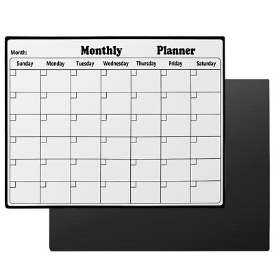 Monthly Magnetic Dry Erase Board Calendar Whiteboard For Refrigerator 11x14inch