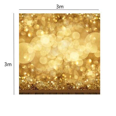 10x10ft Golden Spots Glitter Sparkl Photography Background Backdrop Studio
