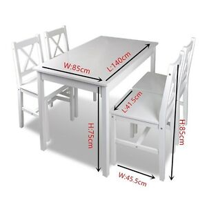 Brand New Solid PineWood Dining set 5pcs or 7pcs white Clayton South Kingston Area Preview
