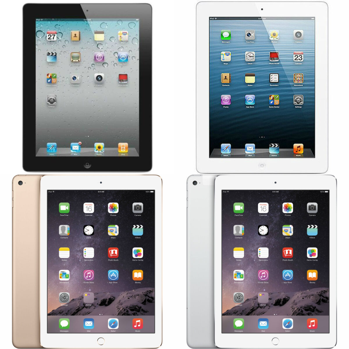 Ipad - Apple iPad 2, 3, 4, Air, or Air 2 WiFi 9.7in Tablet (Refurbished)