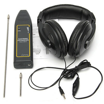 Electronic Stethoscope Earphone Leak Detector Water Pipe Detection Equipment Kit