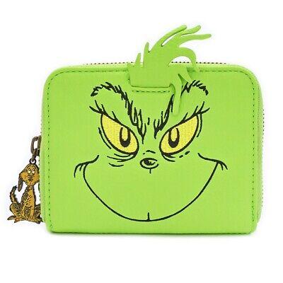 Loungefly Dr. Seuss el Grinch Chal Navidad Cosplay Cartera Cremallera DSSWA0004
