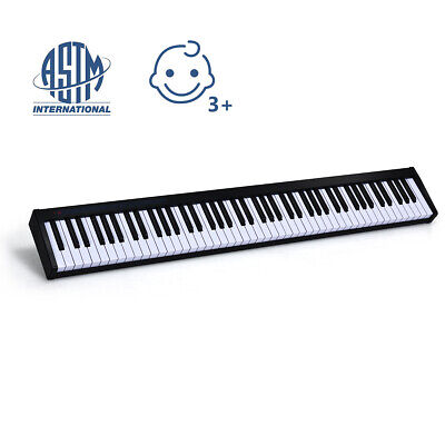88 Keys Digital Piano Portable MIDI Keyboard Weighted Key Bluetooth Black
