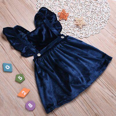 Toddler Kids Baby Girls Velvet Princess Tutu Dress Sleeveless Popular Clothes](Toddler Velvet Dress)