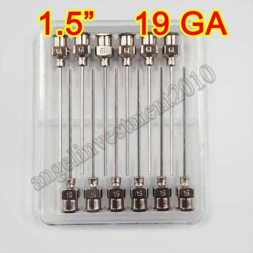"12pcs 1.5"" 19Ga Blunt stainless steel dispensing syringe needle tips"