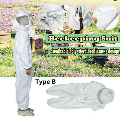 Bee Keeper Suit Beekeeping Veil Jacket Protection Outfit Hat Sting Proof L-2xl