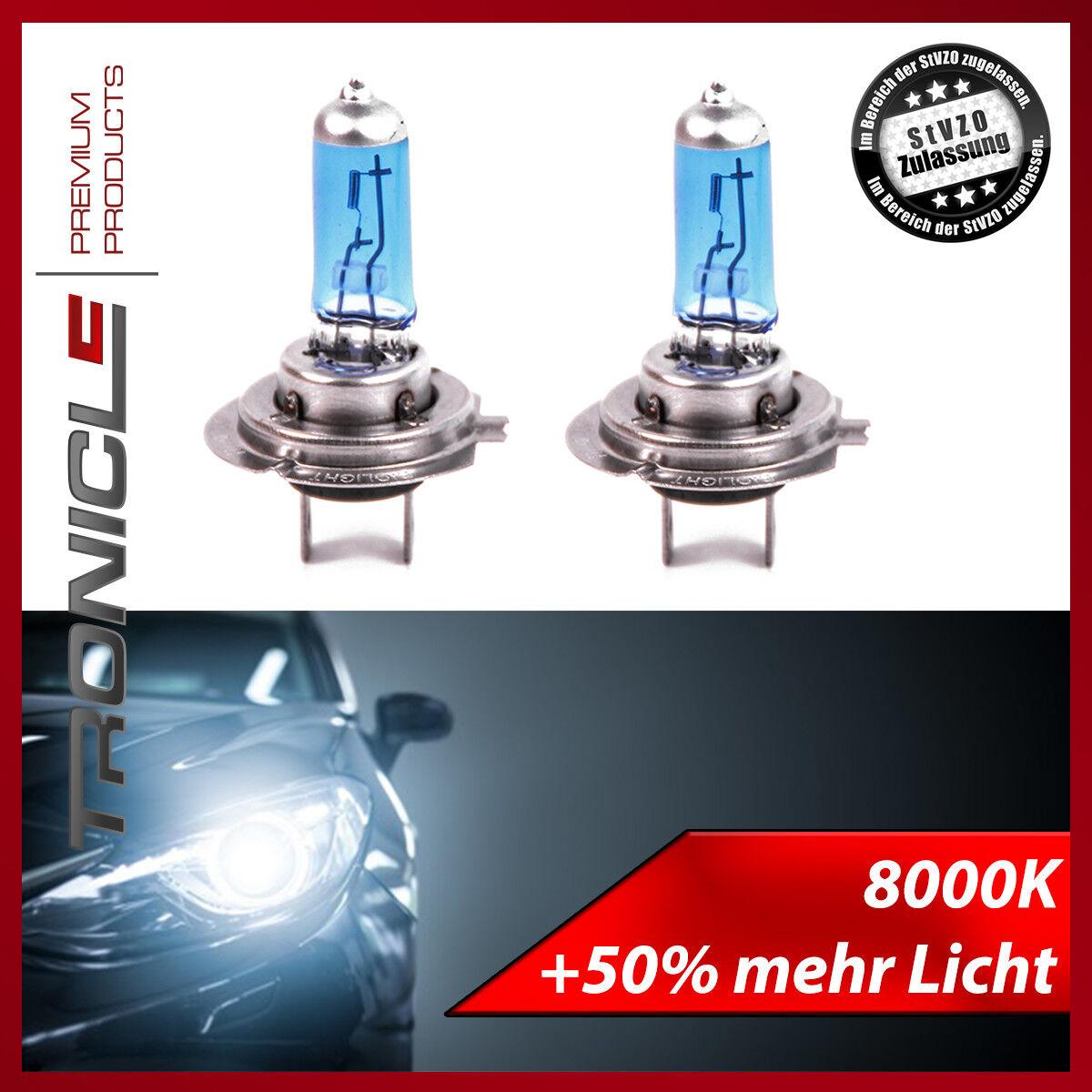 Halogen Sockel Leuchtmittel 8000K Xenon Gas Ultra White E-Prüfzeichen Tronicle