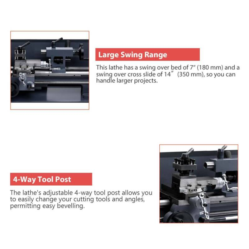 """7"""" x Lathe Variable Speed Motor Driven"""