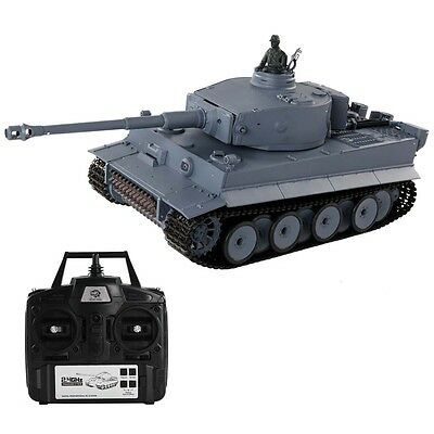 1:16 2.4G RC German Tiger I Battle Tank Radio Remote Control Smoke & Sound New