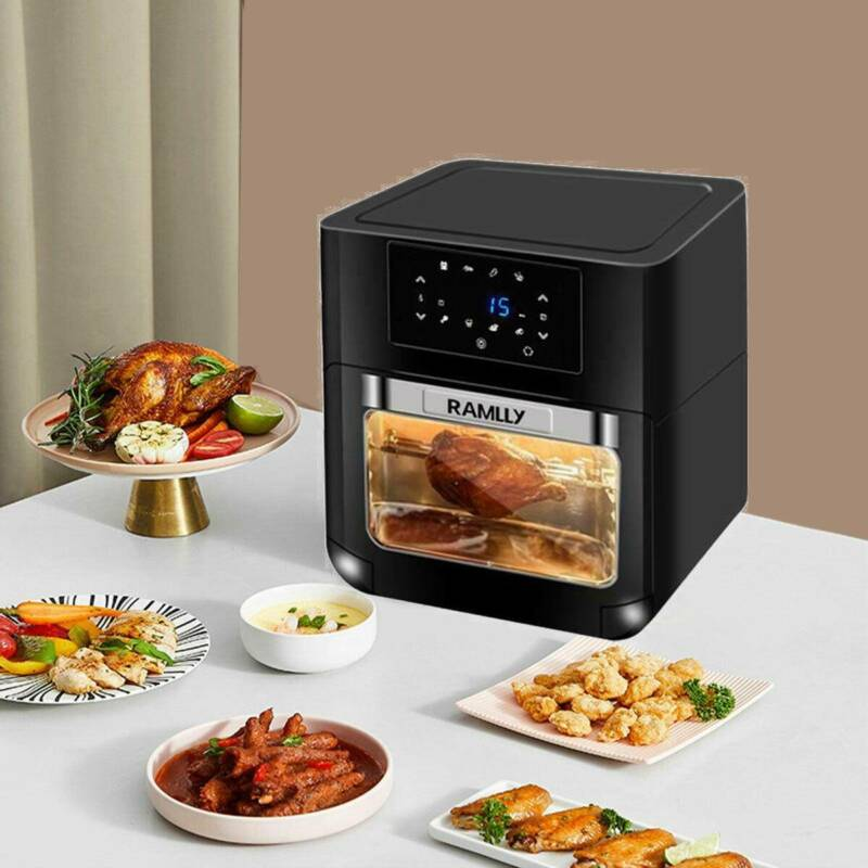 10.6 Quart Air Fryer Oven 1700W 8 in 1 Rotisserie Home w/ 6