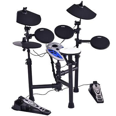 Portable Digital Drums Electronic Drum Kits Foldable Drum Set W/ Sticks & CE