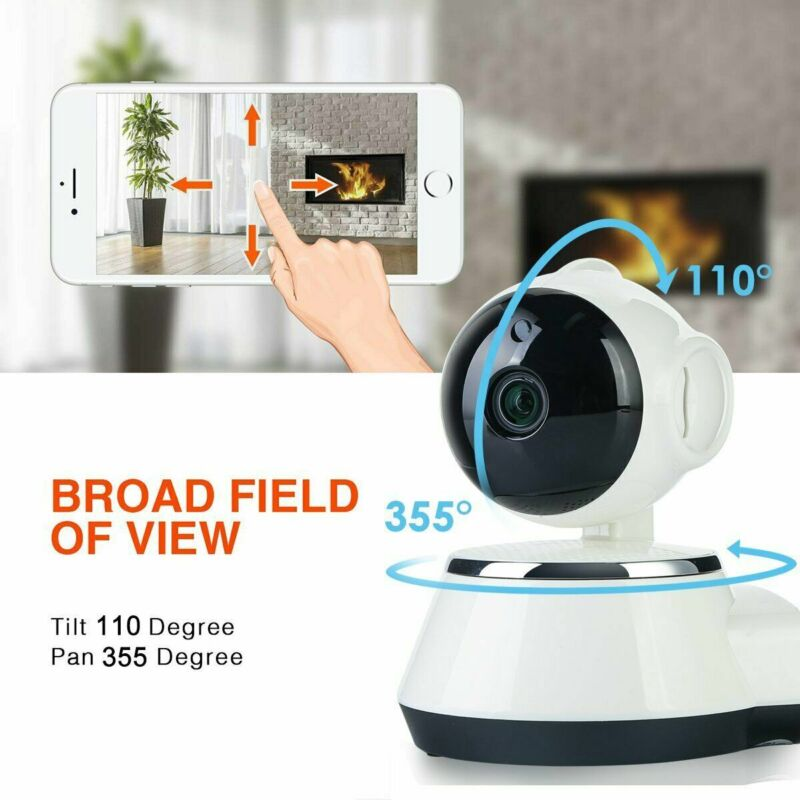 Wireless Full HD Pan Baby Pet Monitor Network Security IP Camera IR WiFi Webcam