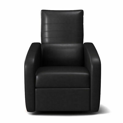 Manual Recliner Chair Contemporary Foldable-Back Leather Rec