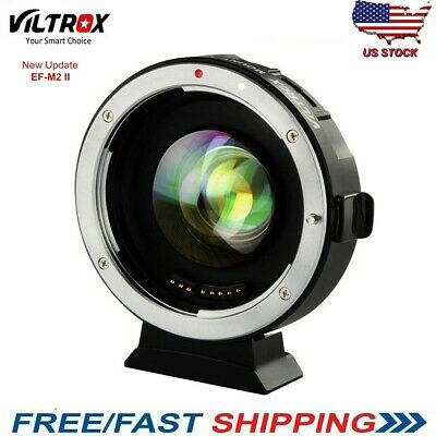Viltrox EF-M2 II Auto Focus Speed Booster 0.71x Adapter Canon EF to M43 MFT