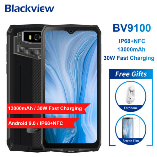 "6,3"" Blackview BV9100 13000mAh 4GB+64GB Handy IP68 Smartphone 30W Schnellladung"