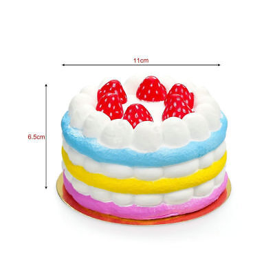 Jumbo Pastry Cake Squishy Stress Relief Slow Rising Hand Pillow Play Food