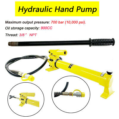 2 Speed 900cc Power Pack Hose 700bar Coupler Hydraulic Hand Pump 10000 Psi Us