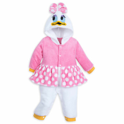 Disney Store Daisy Duck Baby Fleece Costume Baby Romper Bodysuit Halloween 18/24 - Child Daisy Duck Costume
