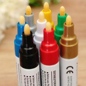 8 Colors/Set Waterproof Paint Marker Pen Car Tire Tread Rubber Permanent Mark