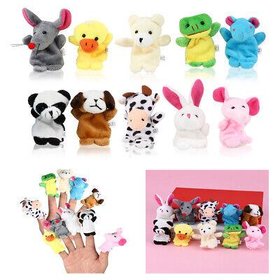 20x Farm Zoo Animal Finger Puppets Boys Girls Baby Educational Toys Plush Doll Q