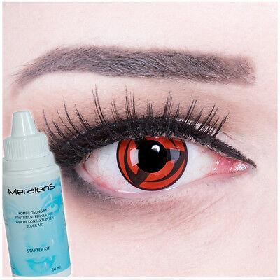 Farbige Kontaktlinsen Sharingan Kakashi Crazy Naruto Halloween Fasching Cosplay