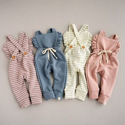 Infant Overalls (US Cute Newborn Baby Girl Clothes Bib Pants Romper Overalls Coming Home Outfit)