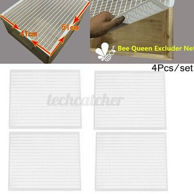 4x 10-frame Bee Queen Honey Excluder Trapping Net Grid Beekeeping Tool Equipment