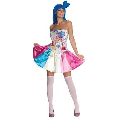 KATY PERRY COSTUME! CANDY CALIFORNIA GIRL WOMEN'S ADULT SIZE RUBIE'S NEW - Adult Candy Costume