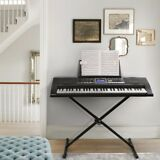 Electronic Piano Keyboard 61 Key Music Key Board Piano With X Stand Heavy Duty