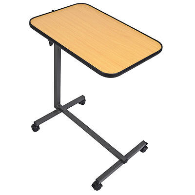 Rolling Tilt Top Overbed Table Over The Bed Table Tilt-to...