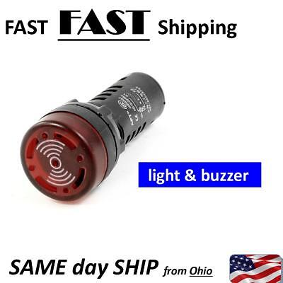 Led Flash Alarm Indicator Signal Lamp W Buzzer Beep 1224110220v Ad16-22sm