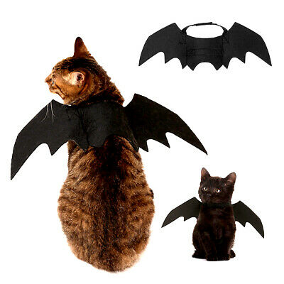 Haustier Schwarz Fledermausflügel Katze Fledermaus Cosplay Kostüm für - Katze Kostüm Für Halloween