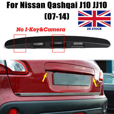 Ivory White Viviance Rear Tailgate Boot Car Exterior Door Handle Trim Strip Back Cover Open Door Handle Trunk Handle Trim Strip for Nissan Qashqai J10 Jj10 07-15 with I-Key/&Camera Hole