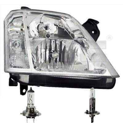 Scheinwerfer links Chrom H1//H7//W21//5W für Opel Meriva B inkl Osram Lampen