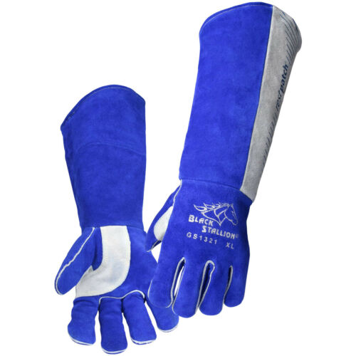 "Revco Padded Long-Cuff Split Cowhide Stick 21"" Welding or Grill Gloves"