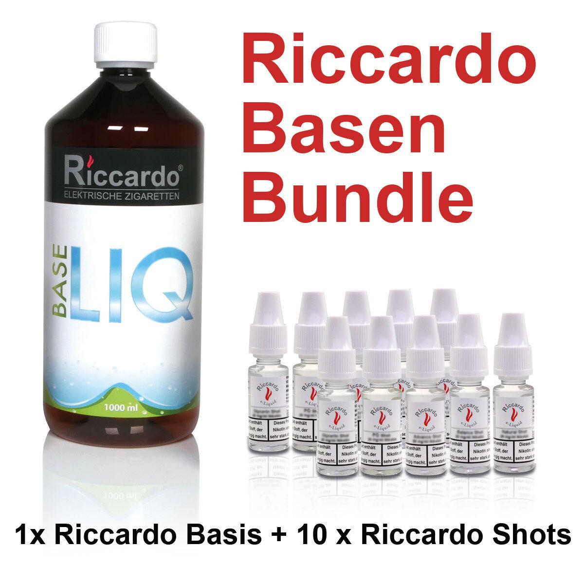 Nikotin Base Shot Balance 24,95€/1L Bundle Riccardo 1000ml 2mg Basis E-Liquid