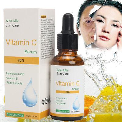 20% Vitamina C Puro Acido ialuronico Siero per Facciale Idratante Anti-età 30mL