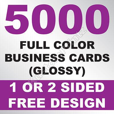 5000 CUSTOM FULL COLOR BUSINESS CARDS   16PT   GLOSSY UV FINISH   FREE DESIGN