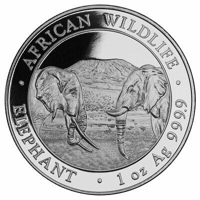2020 Somalia 1 oz Silver Elephant Sh100 Coin GEM BU -