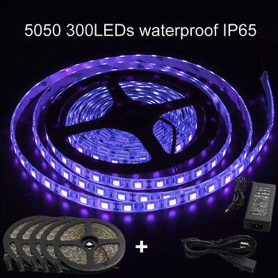 Wholesale Black Lights (Wholesale16ft 5050 Waterproof UV Purple Fish Black Light 300 LED Strip&12V)