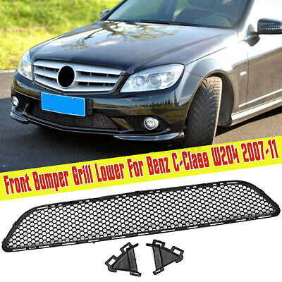 For Mercedes-Benz C-Class AMG W204 Front Bumper Grille Grill Mesh Lower 2007-11