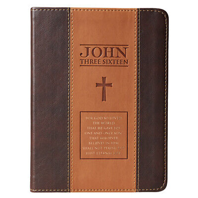 John 3:16 Two-Tone Brown Flexcover Journal  by Christian Art (Flexcover Journal)